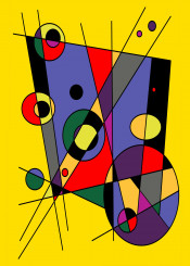 38 abstract digital geometric ellipses ellipsis rectangle lines colors purples black yellows gray orange green
