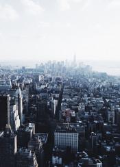 nyc newyork manhattan skyline midtown fog