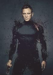 bond 007 james spectre splatter artwork