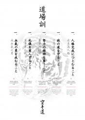 dojo kun dojokun karate emptyhand shotokan shitoryu kyokushin warrior fighter wadoryu funakoshi kata kumite kihon japan japanese okinawa