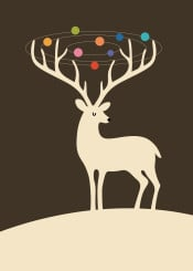 reindeer christmas seasonal holidays cool universe galaxy cute lovely funny happy rainbow