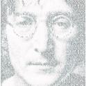 Imagine. A Portrait of John created from the lyrics of Imagine.