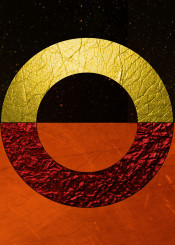 abstract red gold black copper