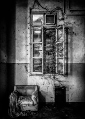 asylum abandoned urbex black white art