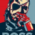 """BIG BOSS.""  I recommend to put this artwork in a yellow frame."