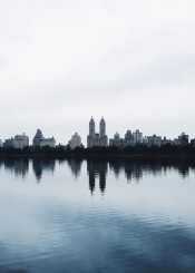 nyc newyork river reflection centralpark