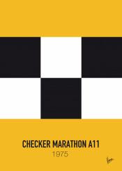 minimal minimalism minimalist famous car striping colors movie graphic design chungkong taxi driver checker marathon travis bickle scorsese