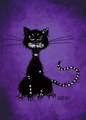 cat cats purple dark vintage gothic goth animal animals feline kitty evil