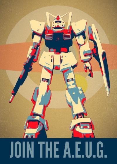 Rykker o7 Gundams   Displate Prints on Steel