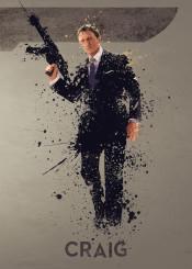 james bond 007 daniel craig sky movie film tv splatter art work