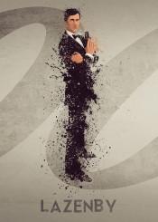 james bond 007 george lazenby sky film tv splatter art work