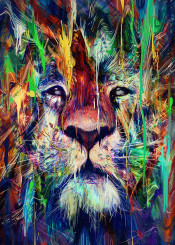lion animals paint digitalpainting photoshop