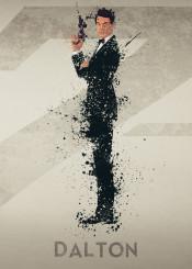 james bond 007 timothy dalton sky film tv splatter art work