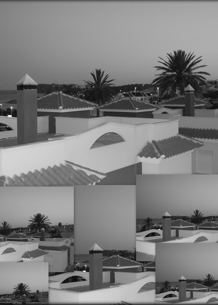 """""""Dusky Rooftops"""" Over the rooftops at dusk."""" 149778"""
