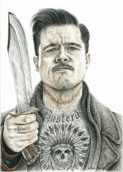 bradpitt movie tarantino inkedikons tattoo inked ingloriousbasterds