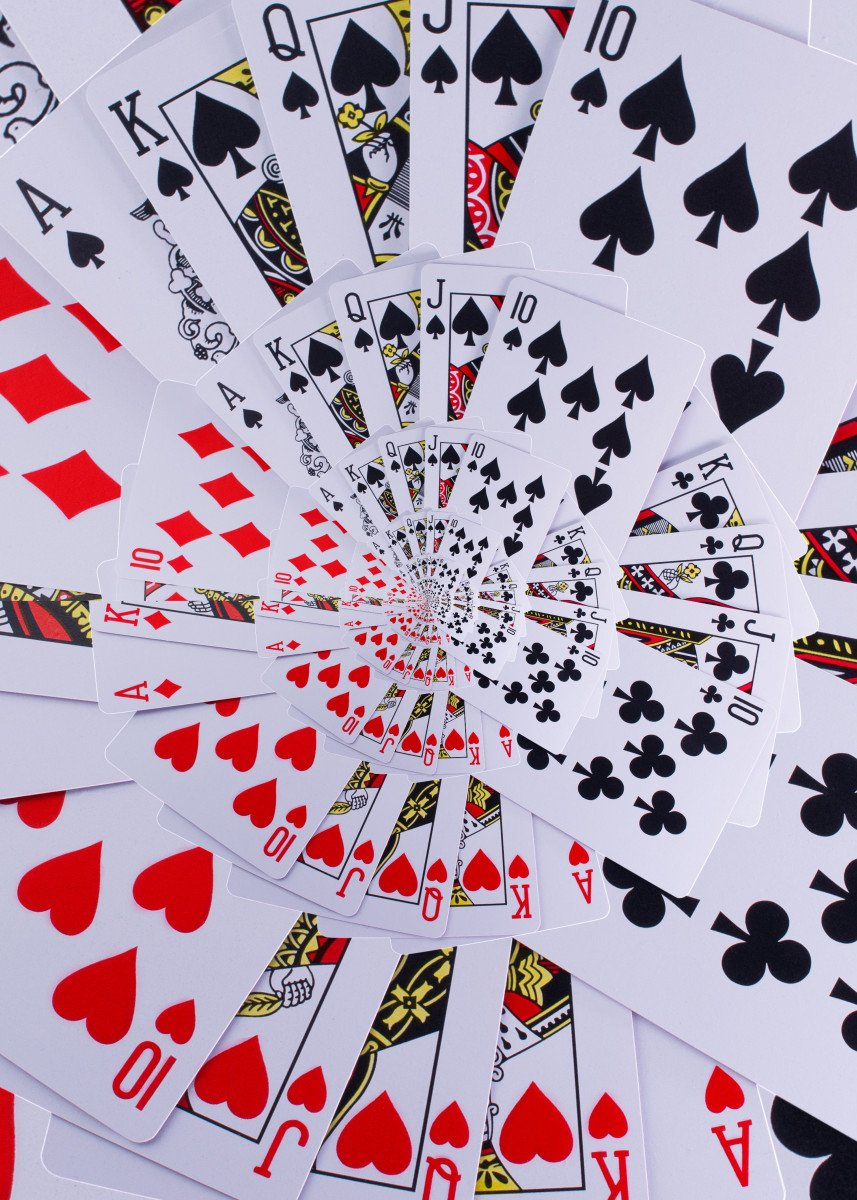 Poker Royal Flush Playing Cards All Suits Droste Spiral