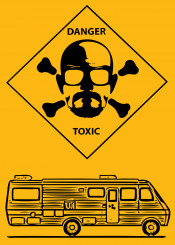 breakingbad danger toxic illustration yellow tvseries meth