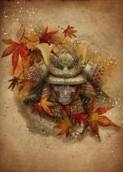 samurai autumn warrior