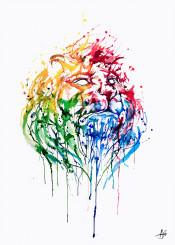 lions predator noble power calm color ink