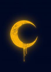 moon melting space light art design illustration barmalisirtb