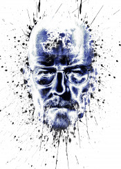 breakingbad heisenberg tvseries illustration walterwhite black blue