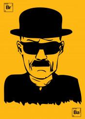 heisenberg breakingbad tvseries movies illustration yellow walterwhite
