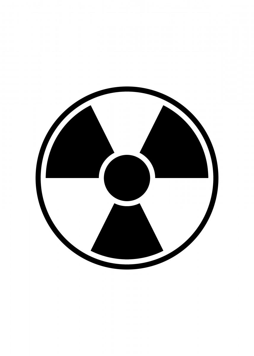 Radiation Warning Sign Round radiation warning sign on.