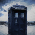 "Polygon Tardis - From  the tv show -""Doctor who"""