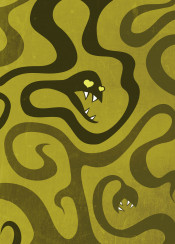 snakes snake horror art illustration green dark texture vintage evil goth gothic teeth tentacle tentacles scary fang