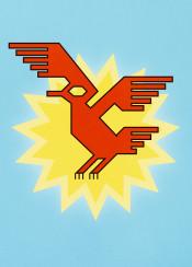 bird geometric abstract sun sky animal geometrical flat fly flight flying wings decorative native andean stylized condor