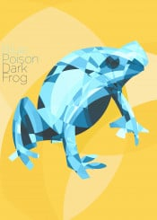frog blue orange nature animals abstract art design ecologic reptils reptile extinction poison brazil