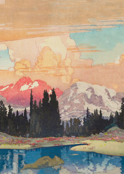Kijier Mono Lost in the Wilderness   Displate Prints on Steel