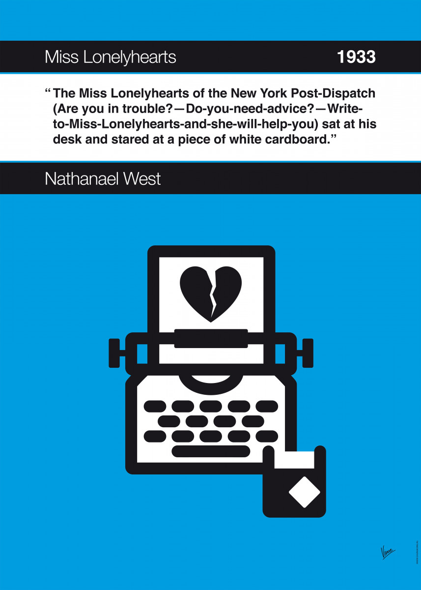 No011 MY Miss Lonelyhearts Book Icon poster 11. The Miss Lonelyhearts