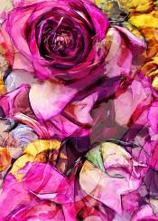 purple rose roses flora flower flowers botanical painting watercolor