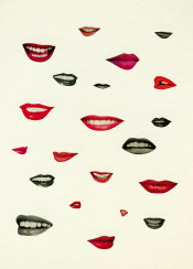 lips lipstick red black grey collage teeth sexy collection women mouth white vintage retro kiss