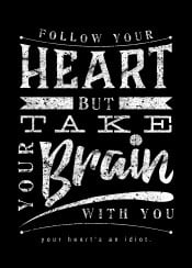 typography typo text love life quote digital art inspiration heart brain take it with you