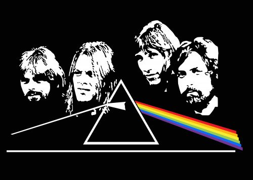 pink floyd prisma by lady rosegold metal posters displate. Black Bedroom Furniture Sets. Home Design Ideas