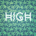 HIGH TYPO! Cannabis / Hemp / 420 / Marijuana  - Pattern  HIGH TYPO! Great modern Hipster Fashion 420 stuff. Super awesome modern green cannabis / hemp pattern. Our Cannabis Accessories are a great gift for all hemp / marijuana / weed / 420 friends and activists. Brilliant for any festival, Rave and also at the next reggae party. A dope ganja artwork in all the way! All in a great green blue FLAVOR VIBE STYLE!