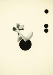 film movie arms surreal popart spots bullets female black grey minimalist circles 1960s sixties collage vintage noir