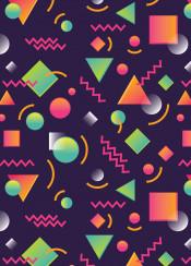pattern neon shapes unique