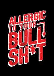 typography humor quote saying typo text vintage allergic bullshit badword