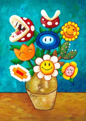 Mario Van Goghs Flower Vase