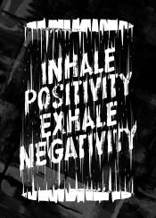 typography typo quote saying exhale inhale positivity negativity design art digital illustration