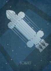 art deco ships sci fi space 1999 eagle blue stars