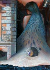 naval mine waterfoam woman hair metamorphosis