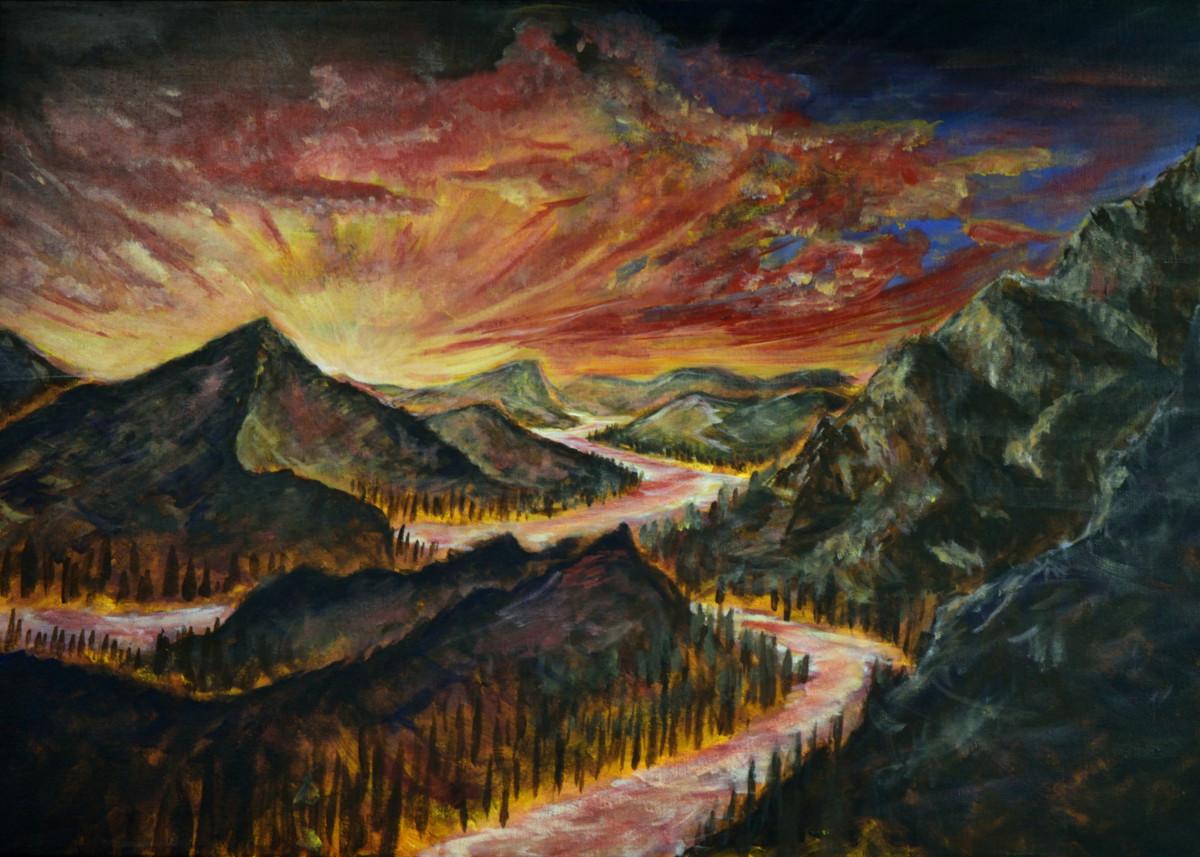 Landscape Paintings by Paul Illge Jr   Displate