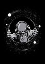 space astronaut black hole stars humor