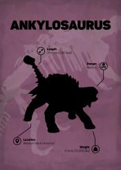 ankylosaurus jurassic world dinosaur skeleton silhouette