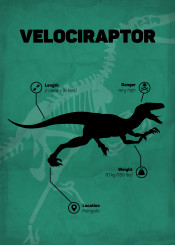 velociraptor dinosaur jurassic world park skeletton silhouette