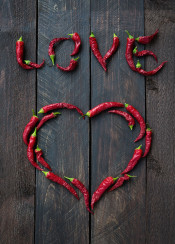 chili love pepper hot passion red heart feeling